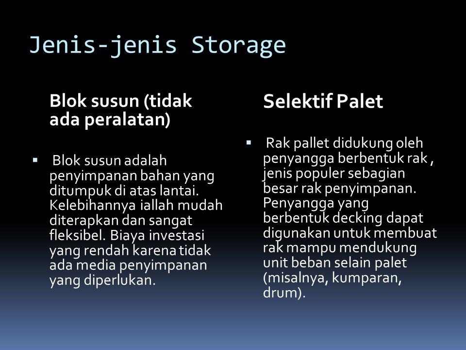 Jenis-jenis Storage Blok susun (tidak ada peralatan)