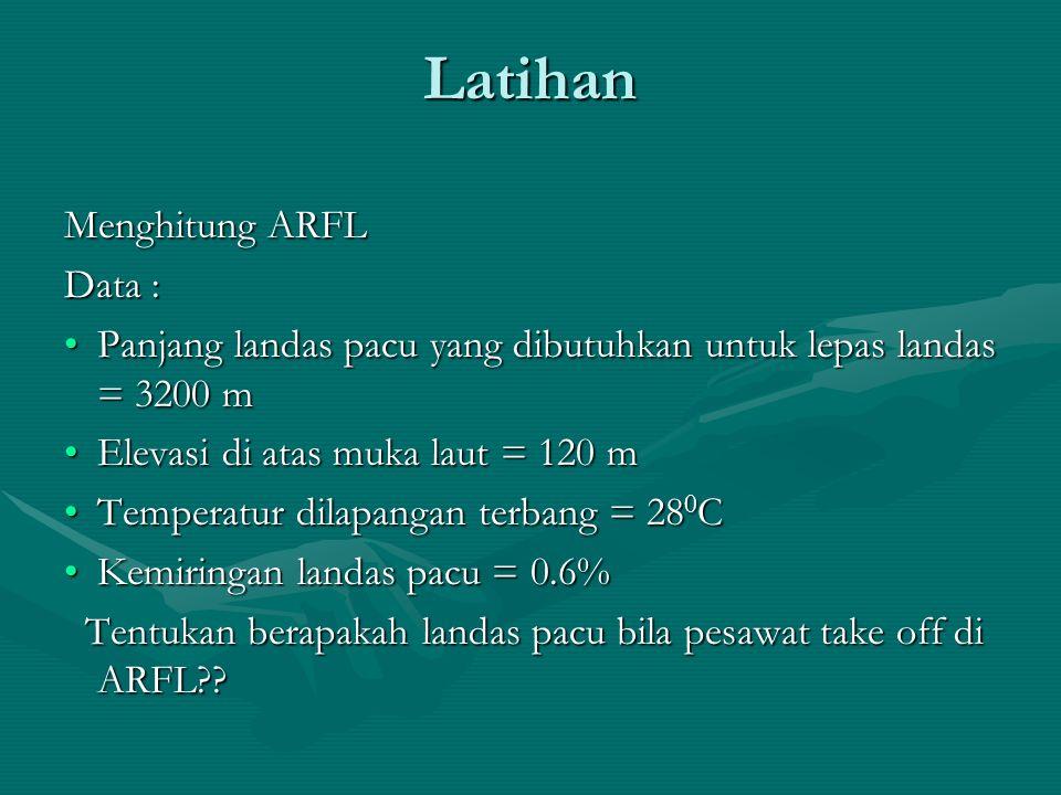 Latihan Menghitung ARFL Data :