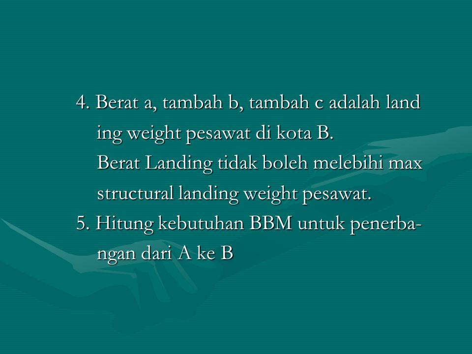 4. Berat a, tambah b, tambah c adalah land