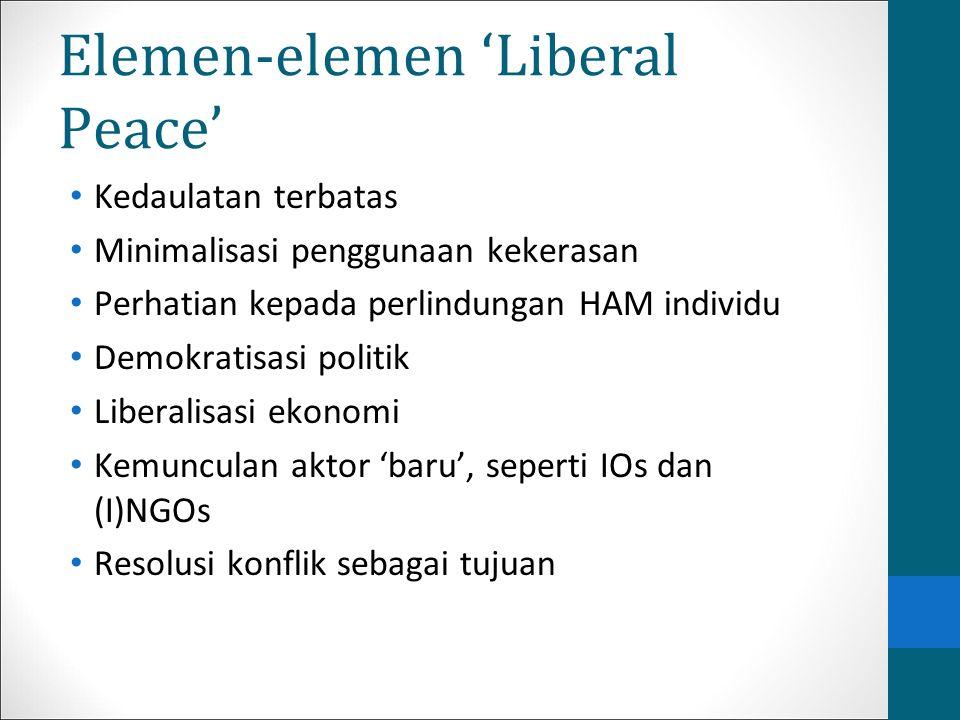 Elemen-elemen 'Liberal Peace'