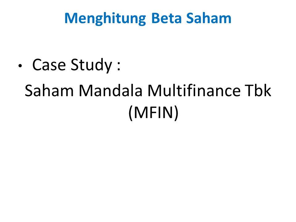 Saham Mandala Multifinance Tbk (MFIN)