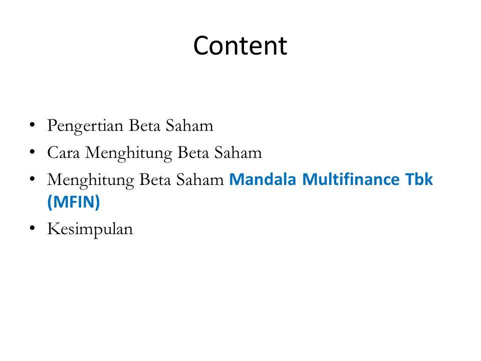Content Pengertian Beta Saham Cara Menghitung Beta Saham