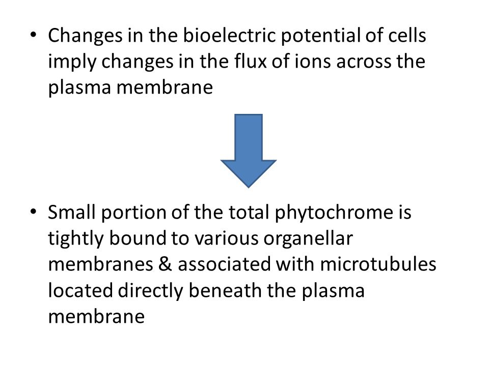 Changes in the bioelectric potential of cells imply changes in the flux of ions across the plasma membrane