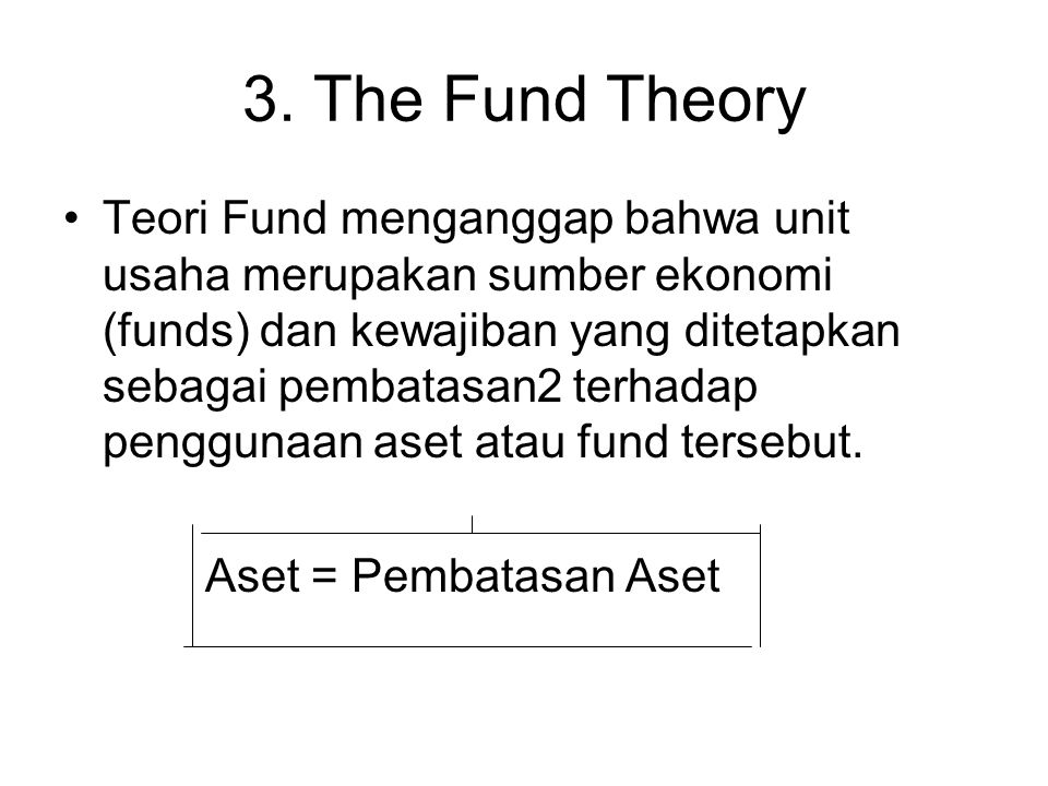 3. The Fund Theory