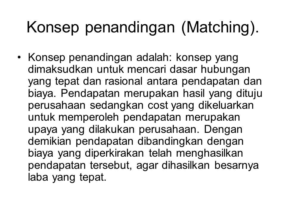 Konsep penandingan (Matching).