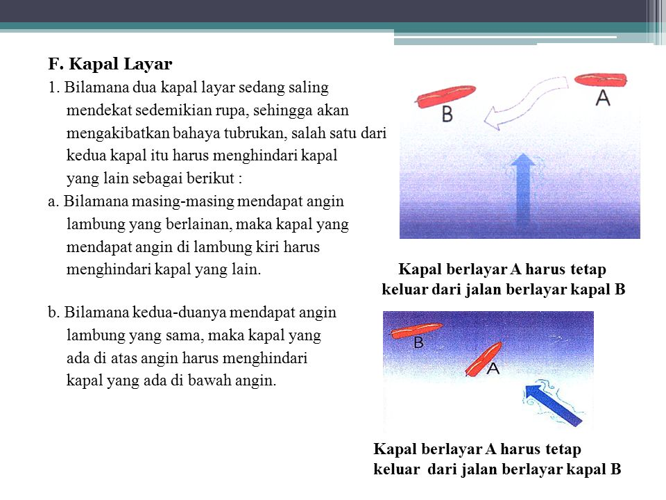 F. Kapal Layar 1.