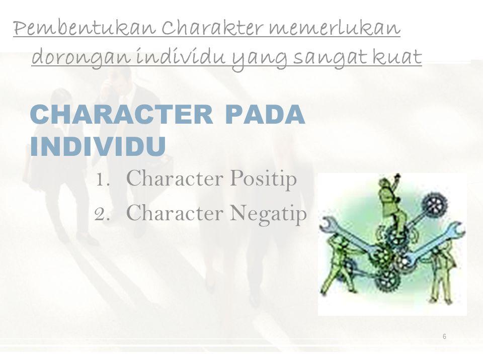 CHARACTER PADA INDIVIDU