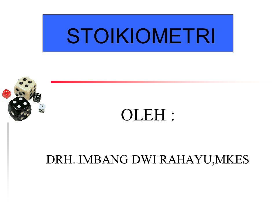 OLEH : DRH. IMBANG DWI RAHAYU,MKES
