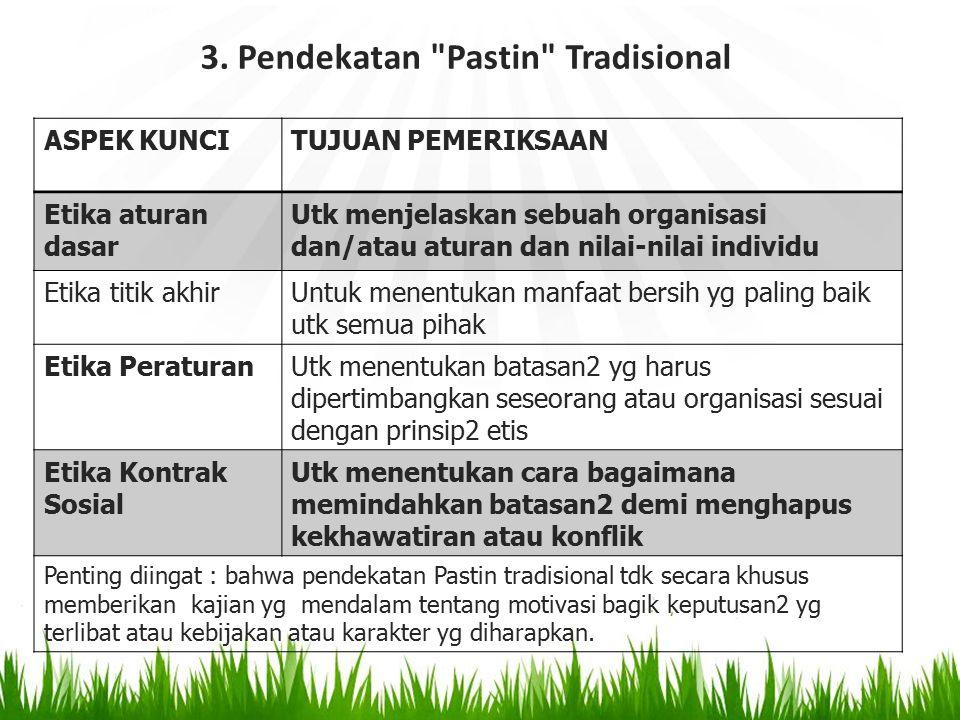 3. Pendekatan Pastin Tradisional