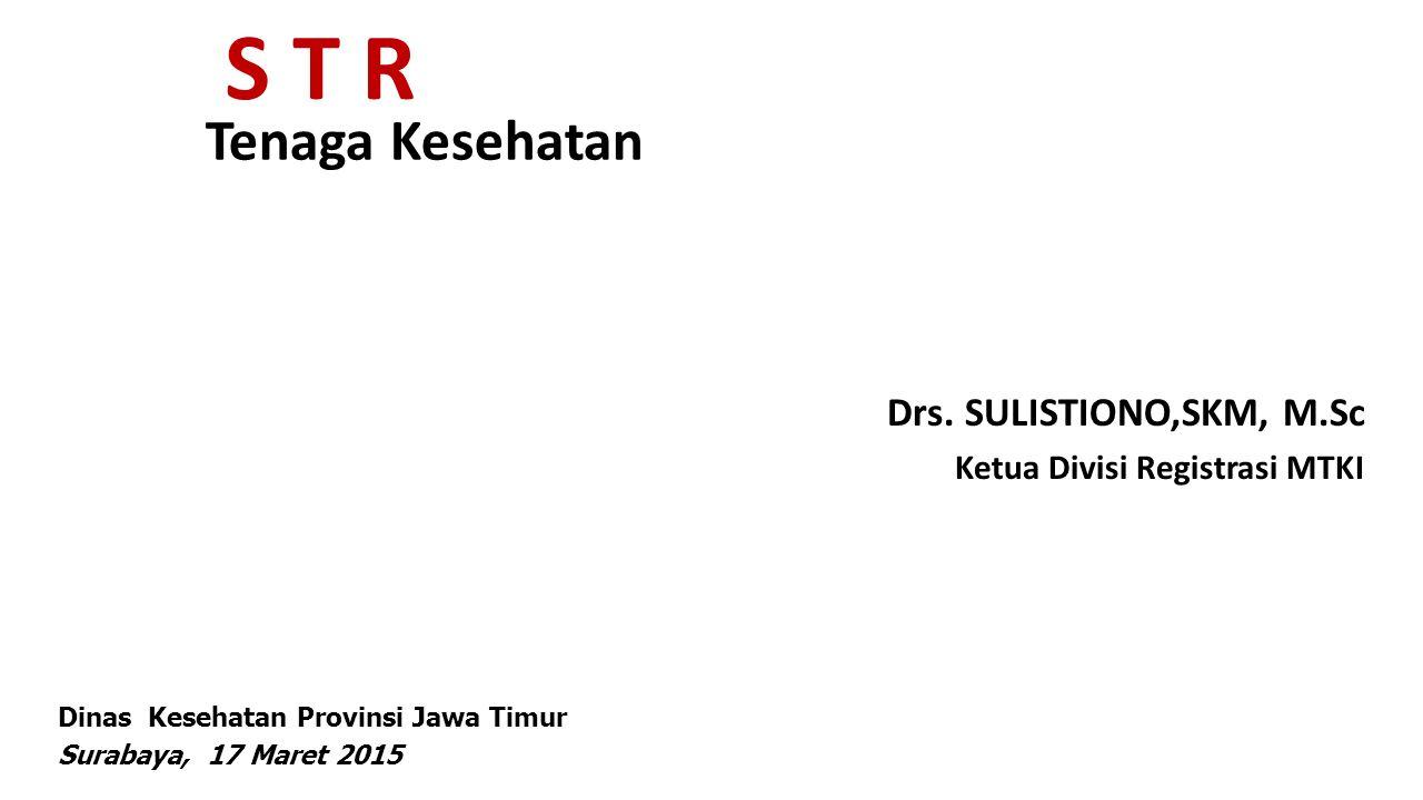 S T R Tenaga Kesehatan Drs. SULISTIONO,SKM, M.Sc