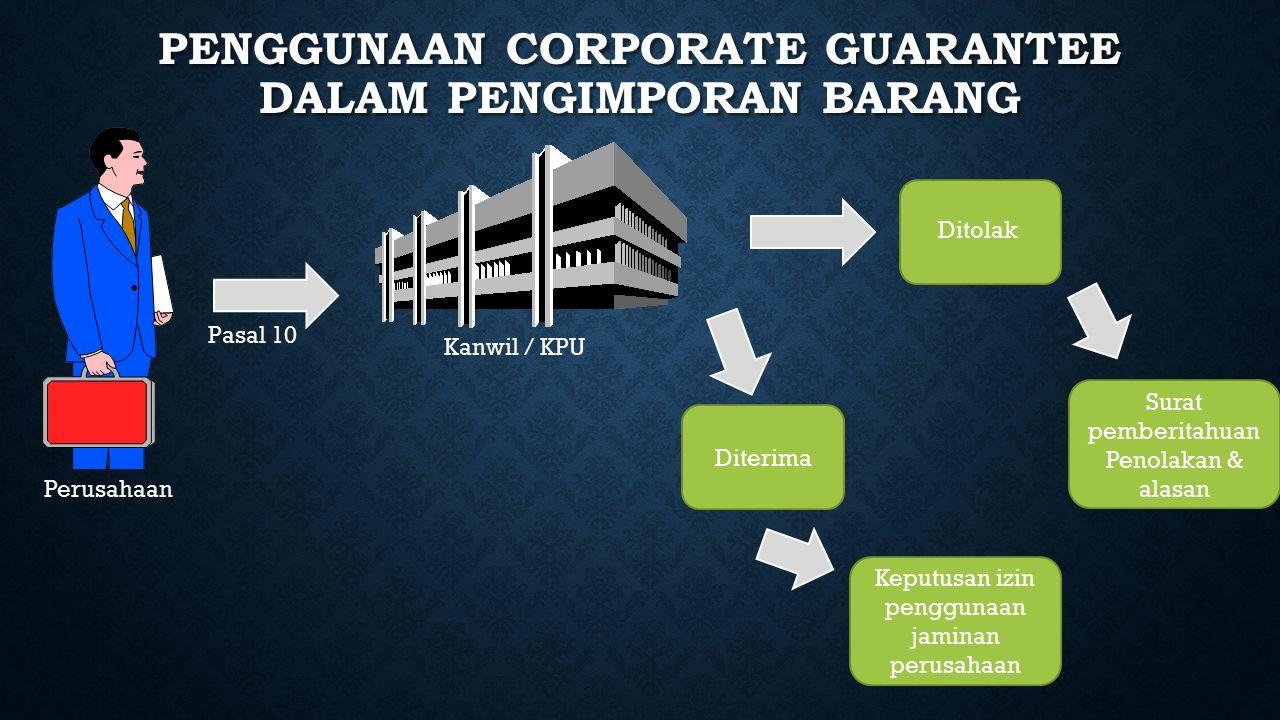 Penggunaan corporate guarantee dalam pengimporan barang