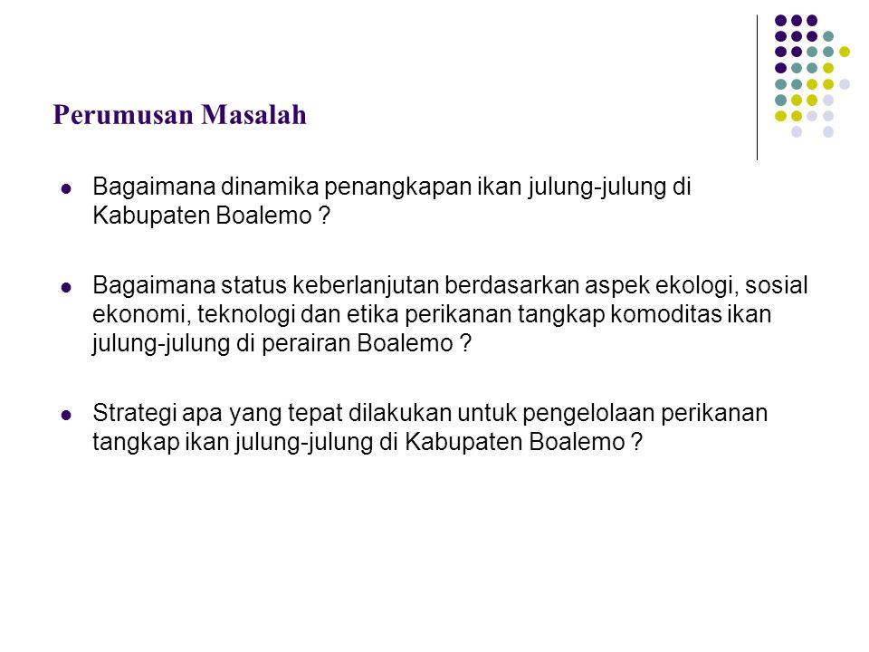 Perumusan Masalah Bagaimana dinamika penangkapan ikan julung-julung di Kabupaten Boalemo