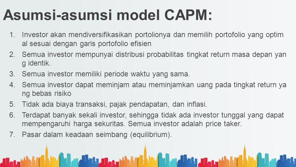Asumsi-asumsi model CAPM: