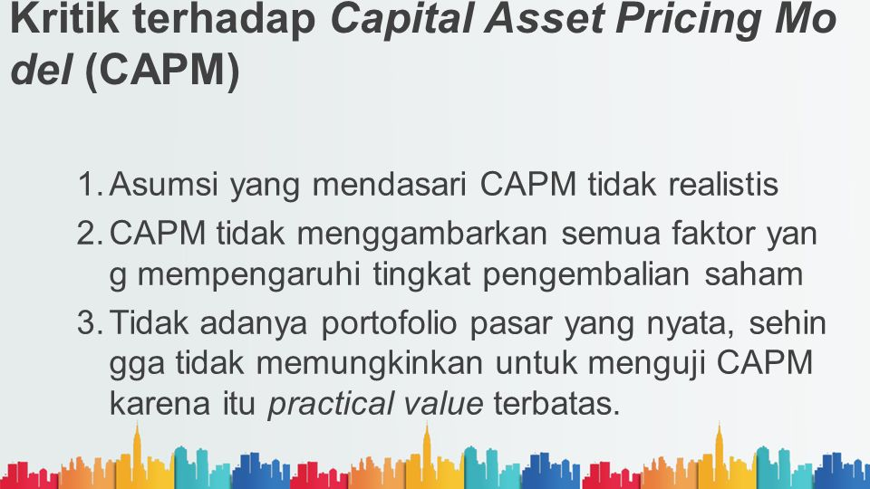 Kritik terhadap Capital Asset Pricing Model (CAPM)