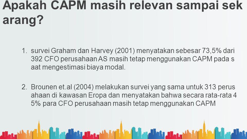 Apakah CAPM masih relevan sampai sekarang