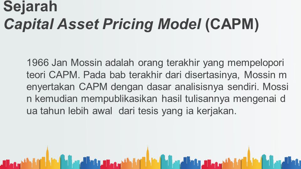 Sejarah Capital Asset Pricing Model (CAPM)