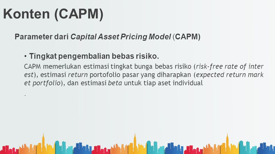 Konten (CAPM) Parameter dari Capital Asset Pricing Model (CAPM)