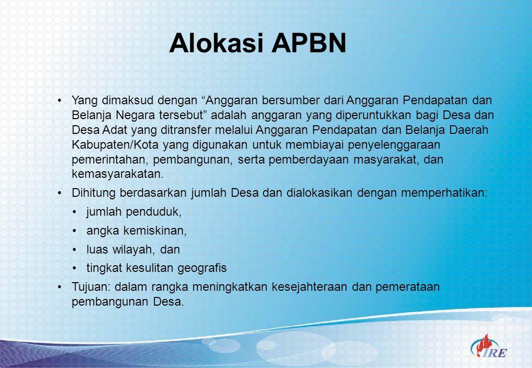 Alokasi APBN