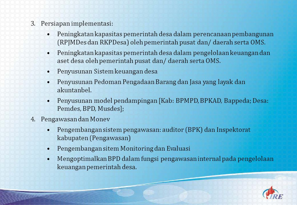 Persiapan implementasi: