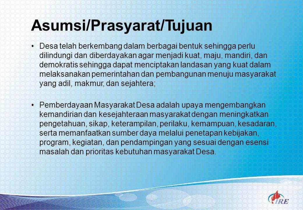 Asumsi/Prasyarat/Tujuan