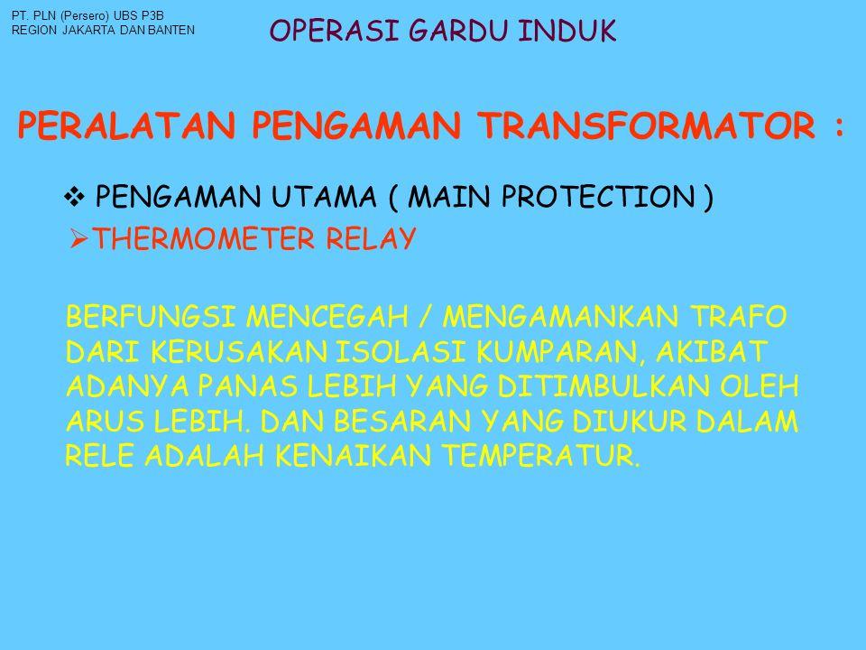 PERALATAN PENGAMAN TRANSFORMATOR :
