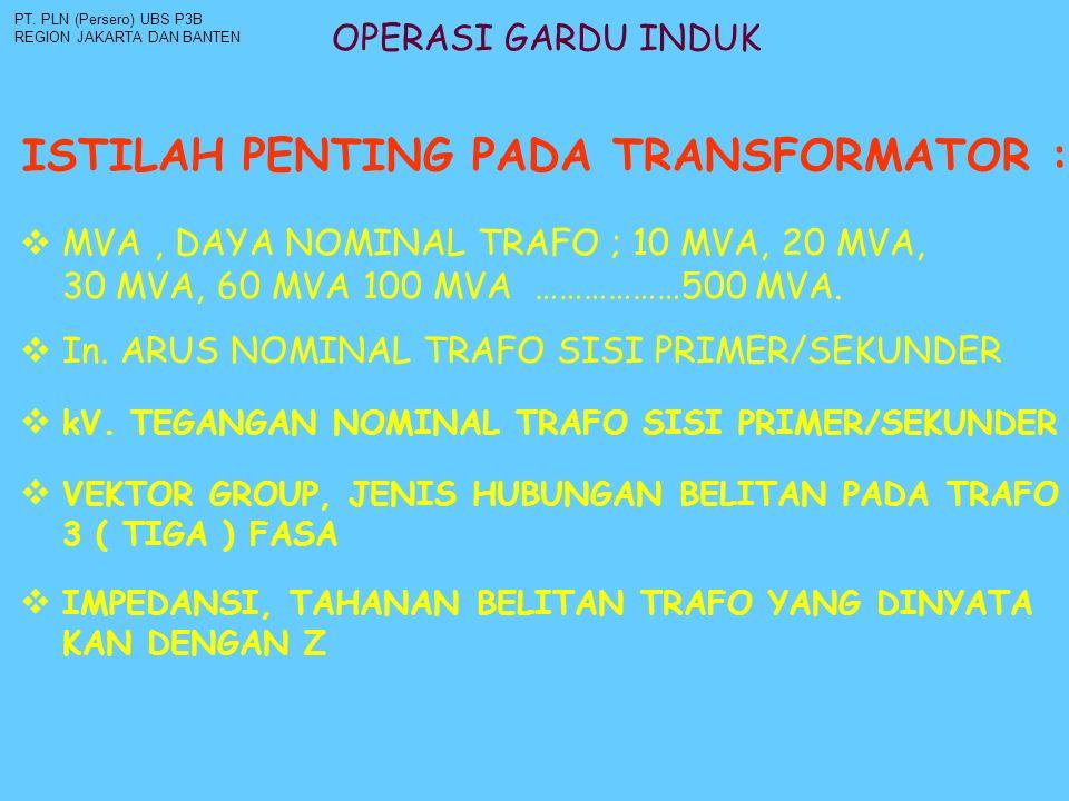 ISTILAH PENTING PADA TRANSFORMATOR :