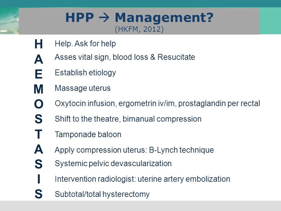 HPP  Management (HKFM, 2012)