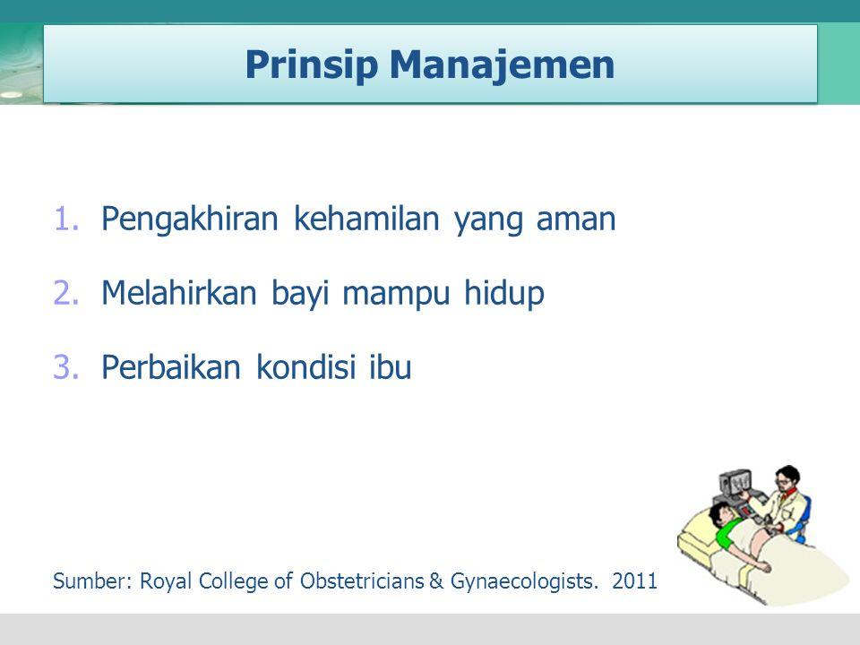 Prinsip Manajemen Pengakhiran kehamilan yang aman