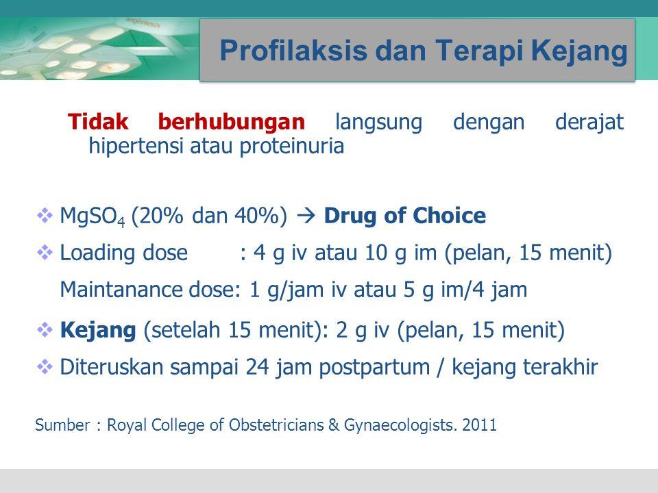 Profilaksis dan Terapi Kejang