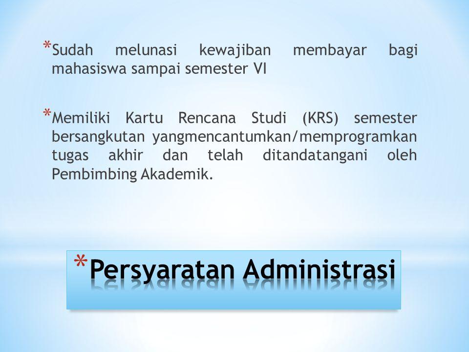 Persyaratan Administrasi