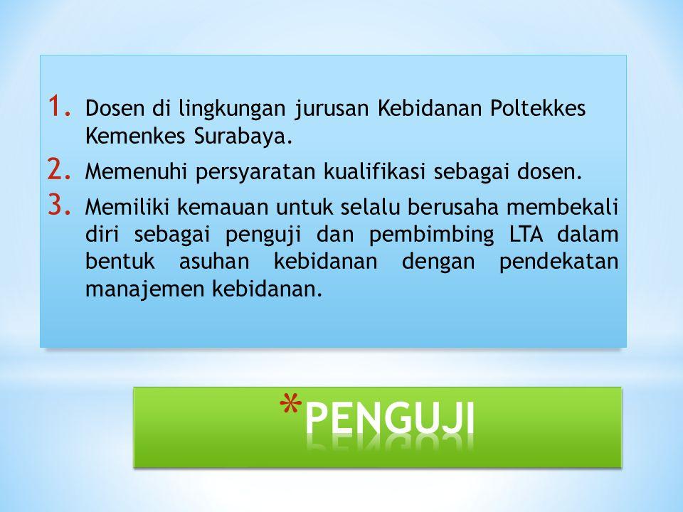 Dosen di lingkungan jurusan Kebidanan Poltekkes Kemenkes Surabaya.