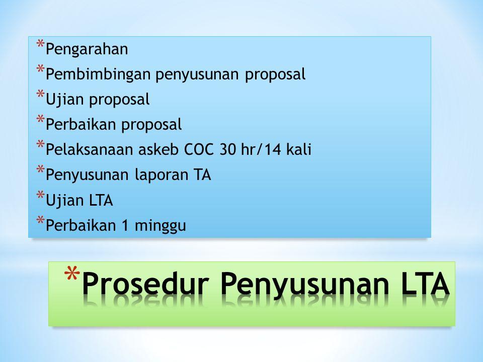 Prosedur Penyusunan LTA