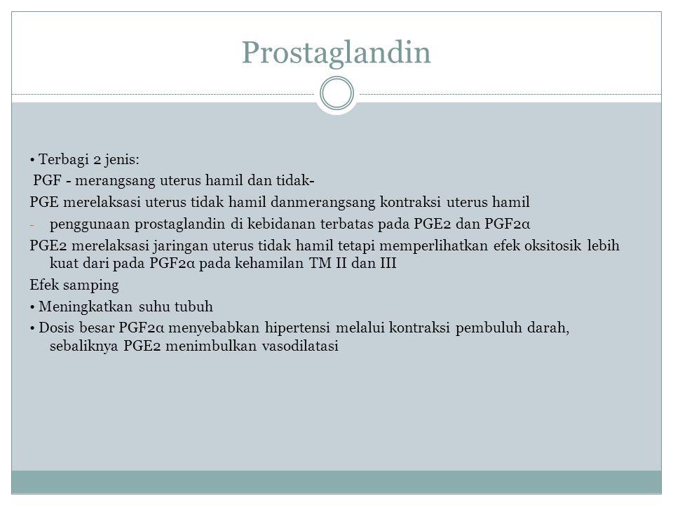 Prostaglandin • Terbagi 2 jenis: