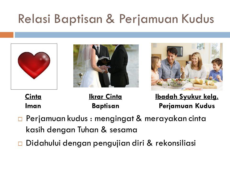 Relasi Baptisan & Perjamuan Kudus
