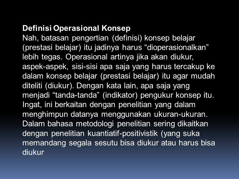 Definisi Operasional Konsep