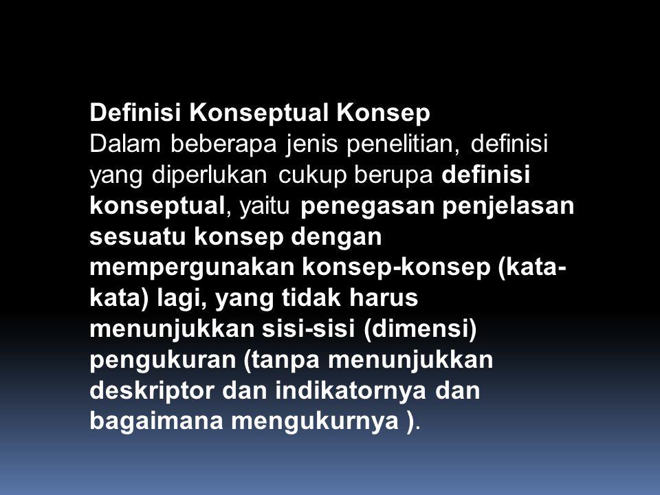 Definisi Konseptual Konsep