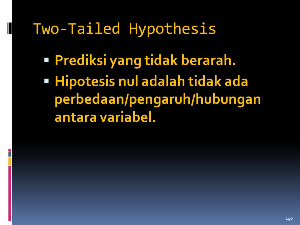 Two-Tailed Hypothesis