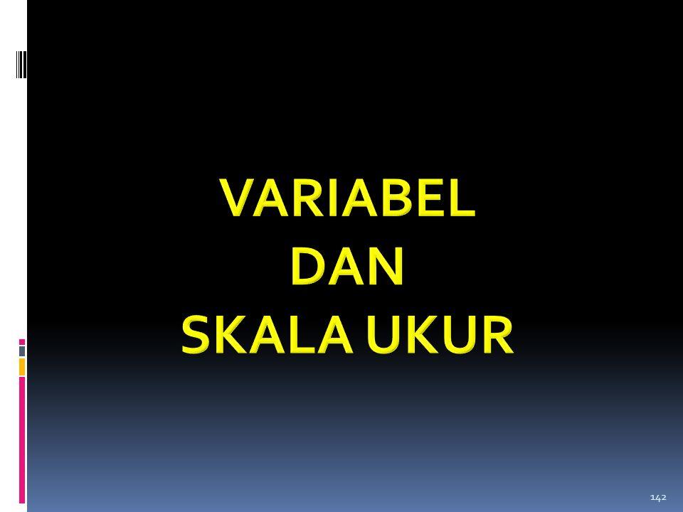 VARIABEL DAN SKALA UKUR