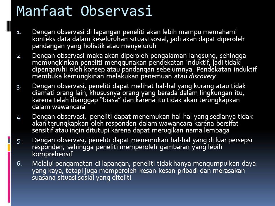Manfaat Observasi