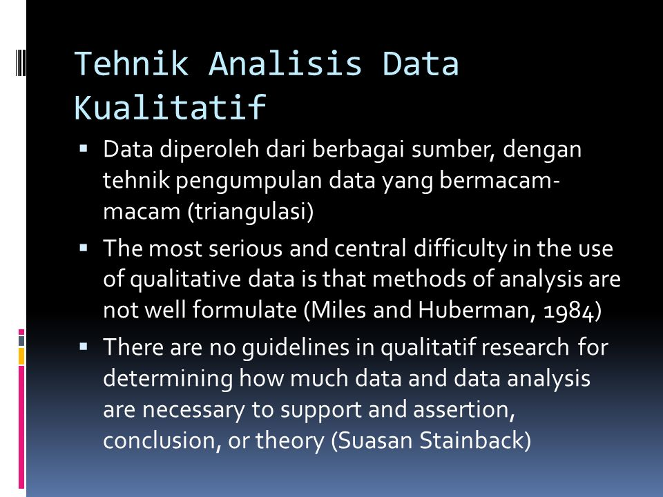 Tehnik Analisis Data Kualitatif
