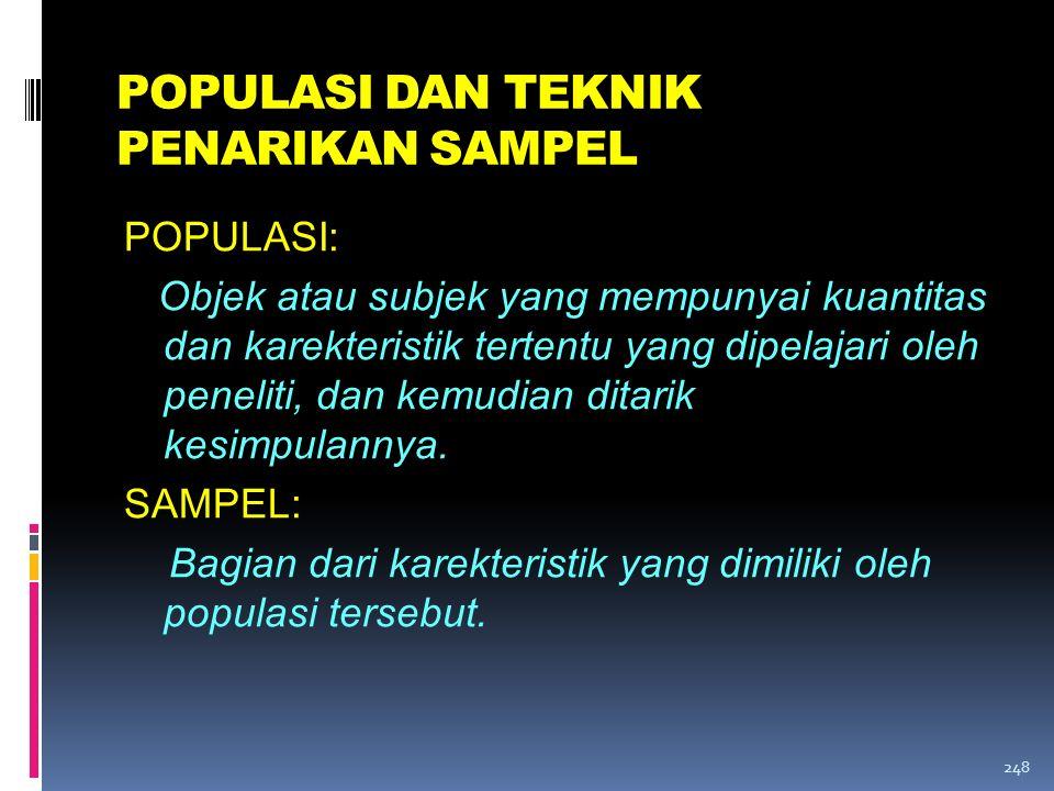 POPULASI DAN TEKNIK PENARIKAN SAMPEL