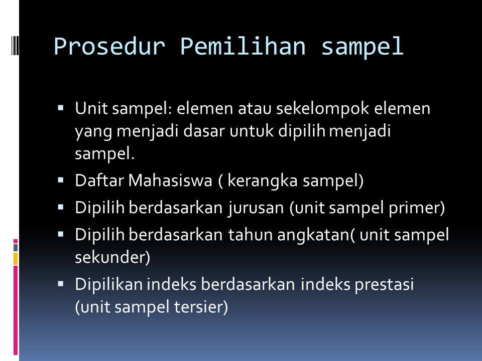 Prosedur Pemilihan sampel