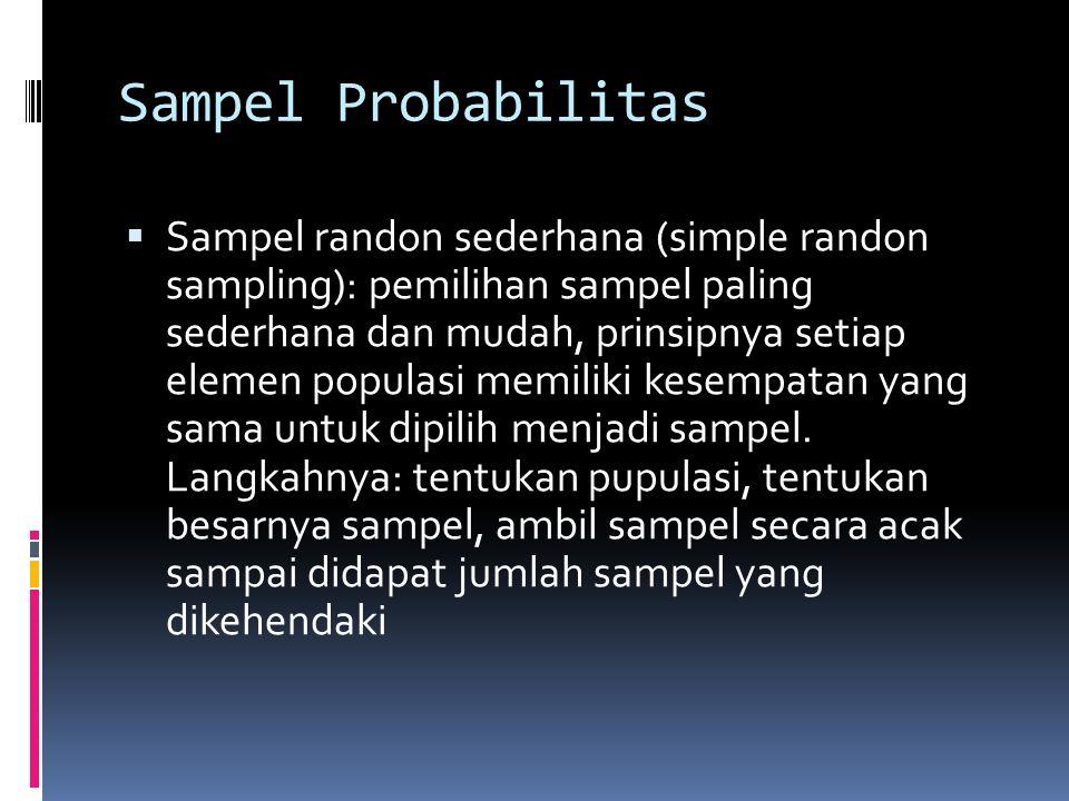 Sampel Probabilitas