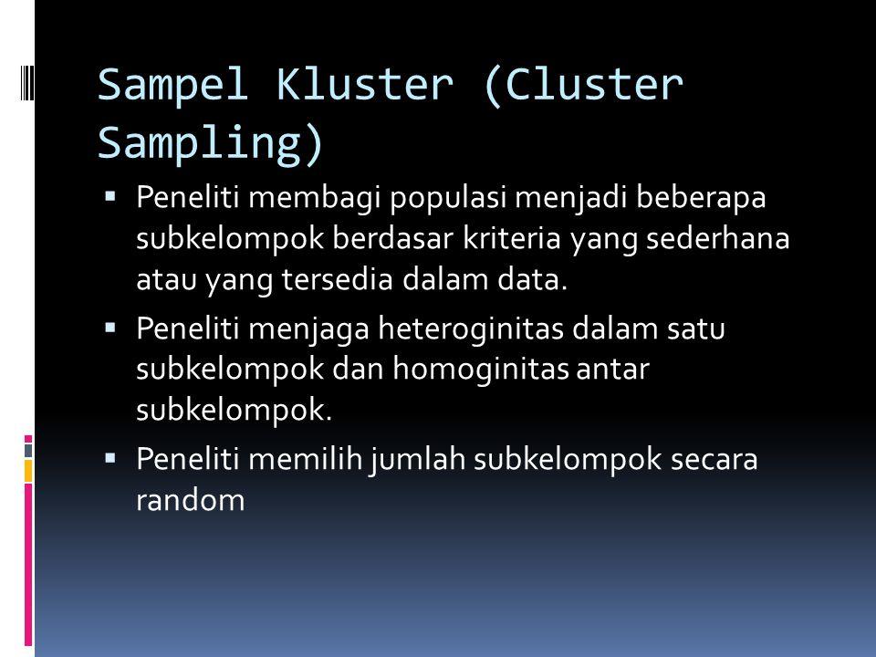 Sampel Kluster (Cluster Sampling)