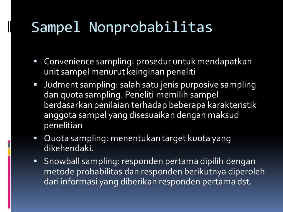 Sampel Nonprobabilitas