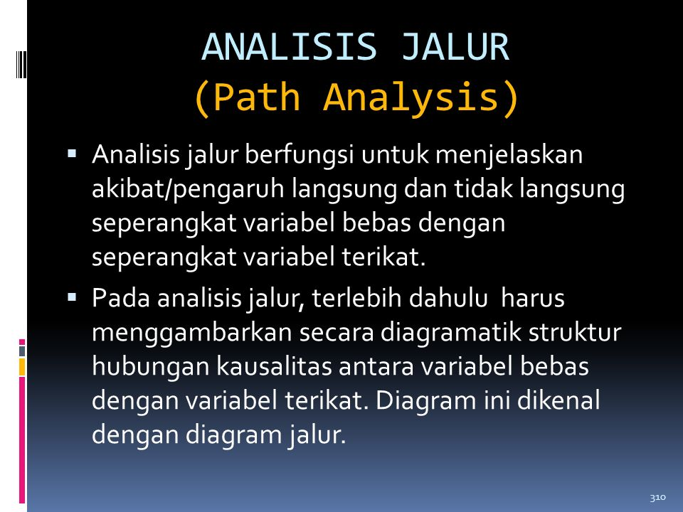 ANALISIS JALUR (Path Analysis)