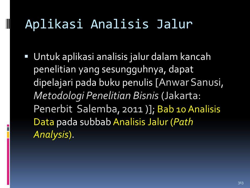 Aplikasi Analisis Jalur