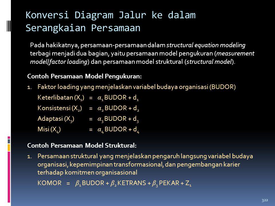 Konversi Diagram Jalur ke dalam Serangkaian Persamaan