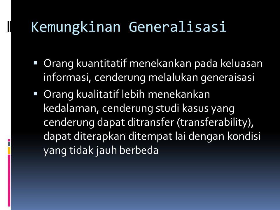 Kemungkinan Generalisasi