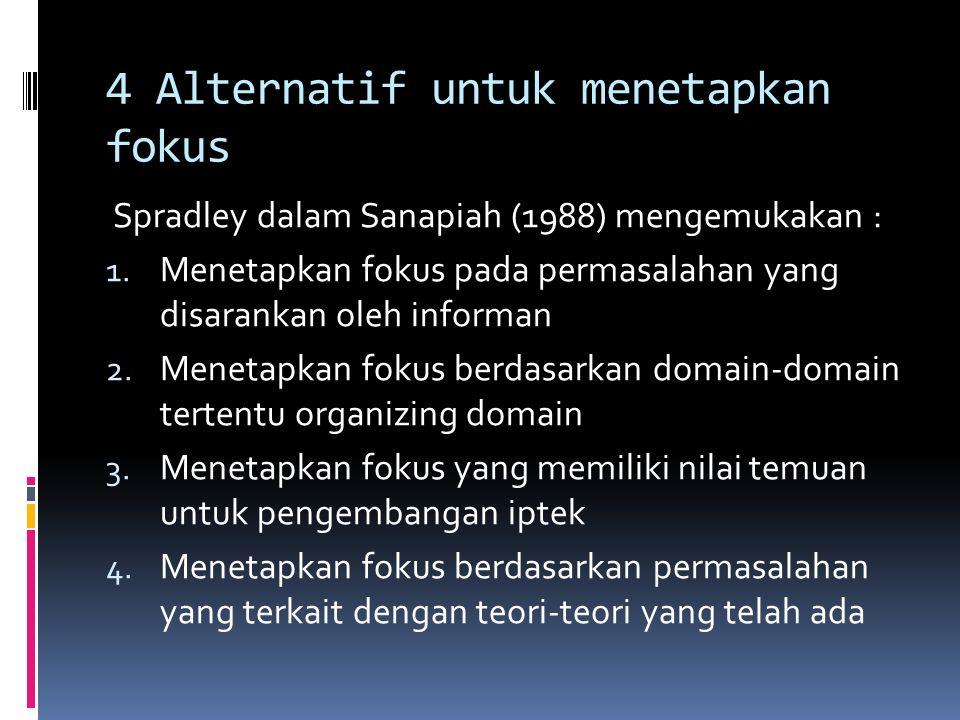 4 Alternatif untuk menetapkan fokus